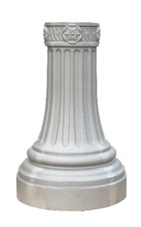 Decorative Cast Aluminum Unpainted Street Base, fitting 3 inch round pole, wholesale price