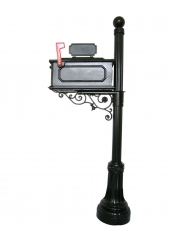 Decorative Cast Aluminum Mailbox set