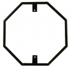 Decorative Traffic Stop Sign Frame 30X30 Frame powder coated in black