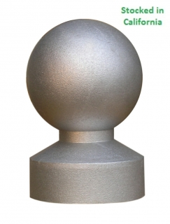 Decorative Cast Aluminum Post Top, fit 3 inch round sign posts, wholesale