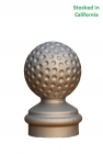 decorative cast aluminum unpainted sign post finial, fitting 3 inch round sign post