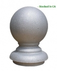 Cast Aluminum Decorative Ball Finial, Ornamental Ball Finial for Sign Posts and Mailbox Posts